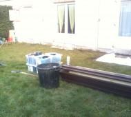 Début du chantier de création de terrasse