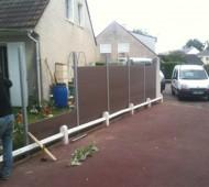 pose de clôture en palissade