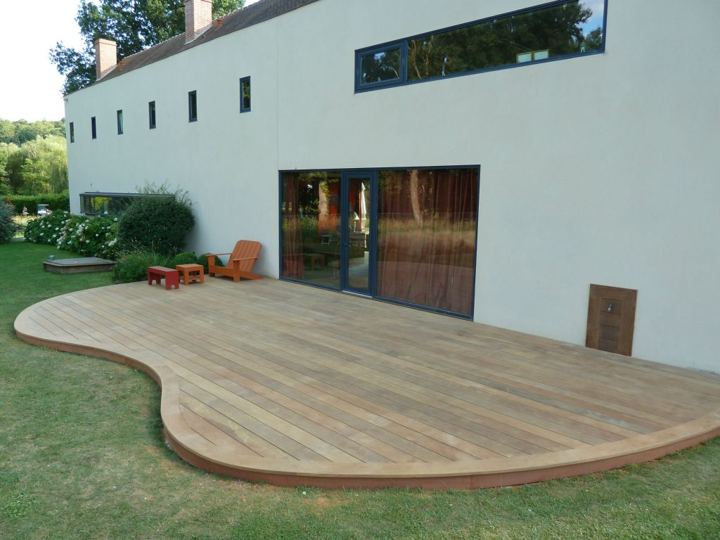 creation d'une terrasse en bois sur nantes